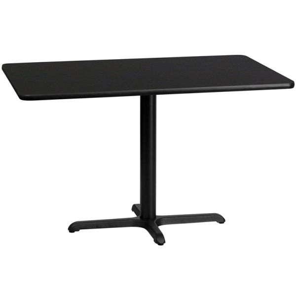 Flash Furniture 30'' x 48'' Rectangular Black Laminate Table Top with 22'' x 30'' Table Height Base
