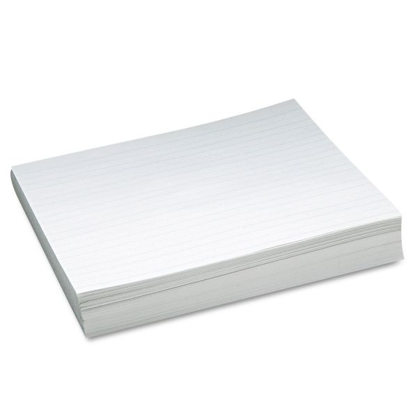 Pacon Skip-A-Line Ruled Newsprint Paper, 30 lbs., 11 x 8-1/2, White, 500 Sheets/Pack