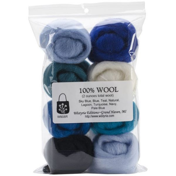 "Wool Roving 12"" .25oz 8/Pkg"