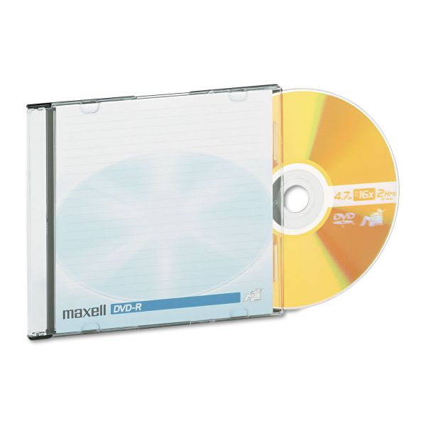 Maxell Recordable DVD Media With Jewel Cases
