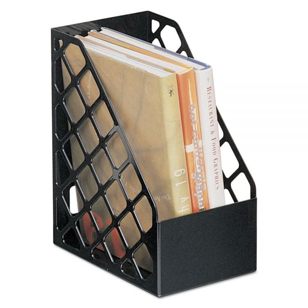 Universal Recycled Plastic Large Magazine File, 6 1/4 x 9 1/2 x 11 3/4, Black