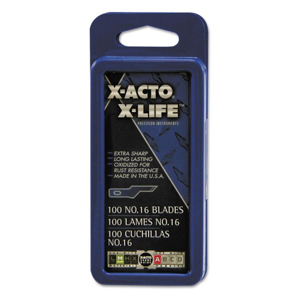 X-ACTO Boston #16 Bulk Pack Blades for X-Acto Knives, 100 per Box