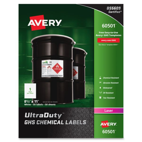 Avery UltraDuty GHS Chemical Labels
