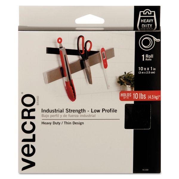 """Velcro Industrial Strength Hook & Loop Fasteners, 1"""" x 10ft Roll, Black"""