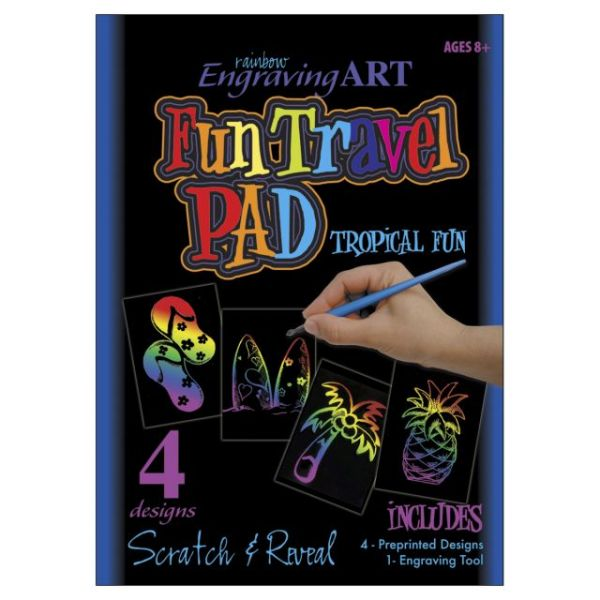 Rainbow Foil Engraving Art Fun Travel Pads