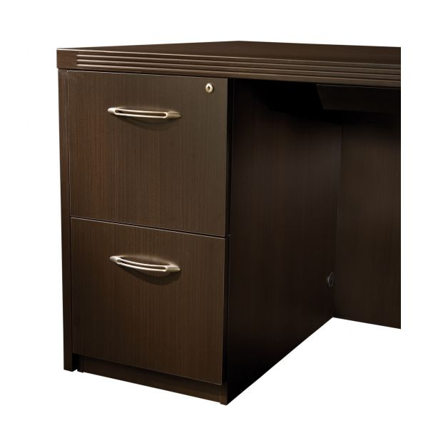 Tiffany Industries Aberdeen Ped For Credenza, 15-1/4W X20D X 27-1/2H, Chocolate