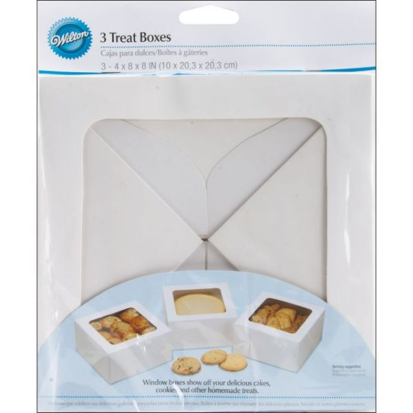 "Treat Boxes 8""X8""X4"" 3/Pkg"