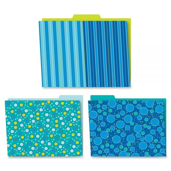Carson-Dellosa Bubbly Blues File Folders Set