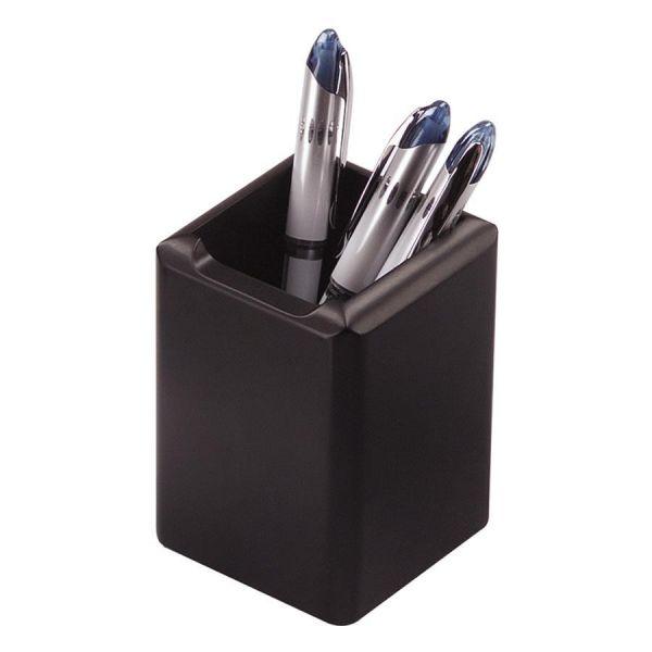 Rolodex Wood Tones Black Wood Pencil Holder