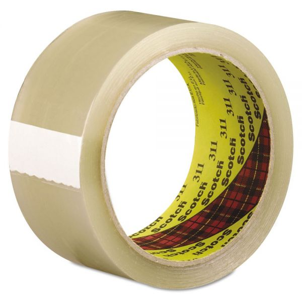 3M Scotch 311 Box Sealing Tape, Clear, 48mm x 100m