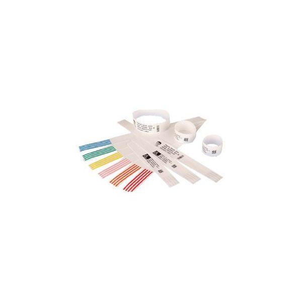 Zebra Wristband Polypropylene 1 x 11in Direct Thermal Zebra Z-Band Direct HC100