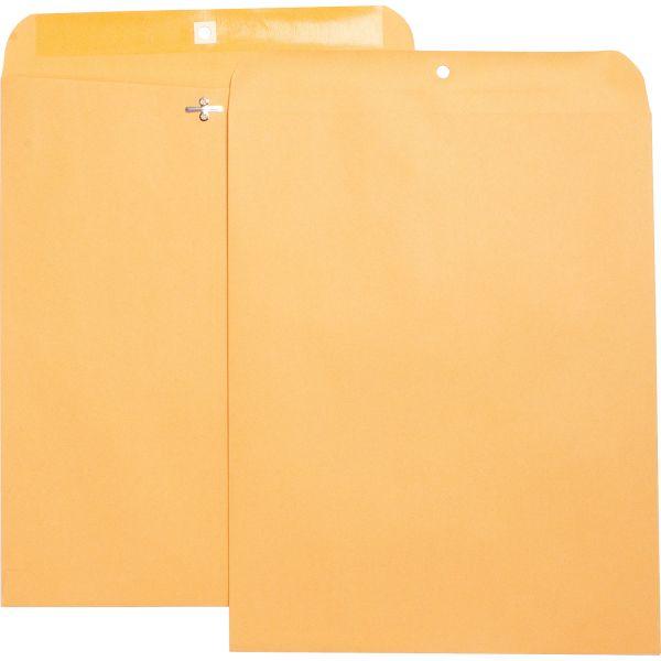 "Business Source Gummed 11 1/2"" x 14 1/2"" Clasp Envelopes"