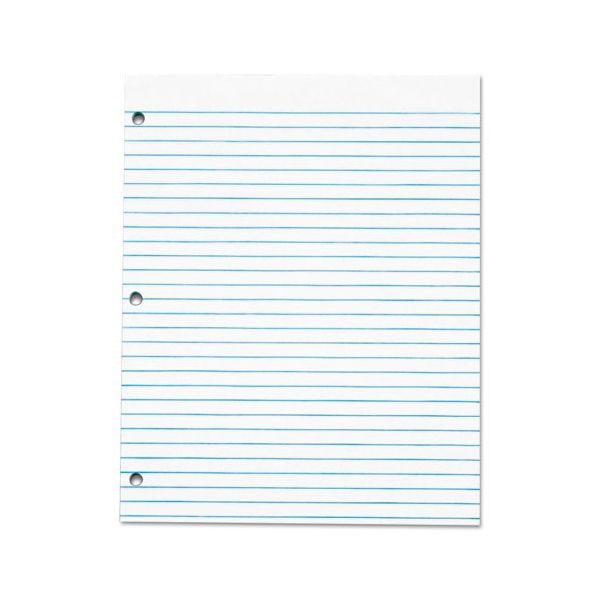 TOPS Three Hole Punched Pad, Legal/Wide, 8 1/2 x 11, White, 50 Sheets/Pack, Dz.