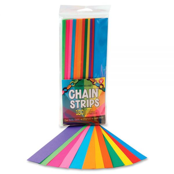 Hygloss Non-gummed Bright Chain Strips