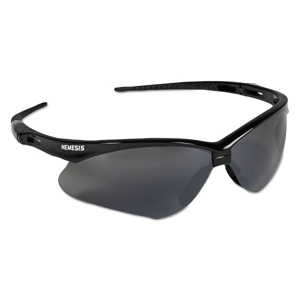 Jackson Safety* V30 Nemesis Safety Glasses, Black Frame, Smoke Lens