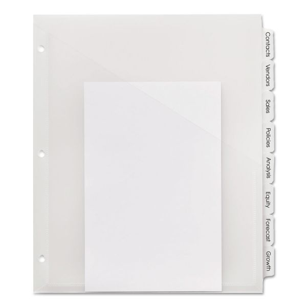 Avery Index Maker Translucent Pocket Dividers