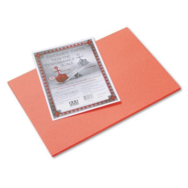 Riverside Groundwood Orange Construction Paper
