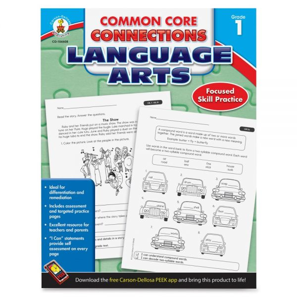 Carson-Dellosa CCC Grade 1 Language Arts Workbook Learning Printed Book for Art - English