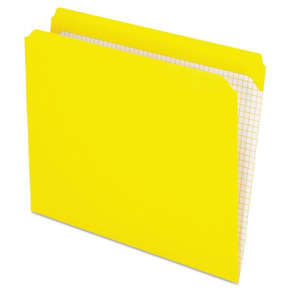 Pendaflex Yellow Colored File Folders