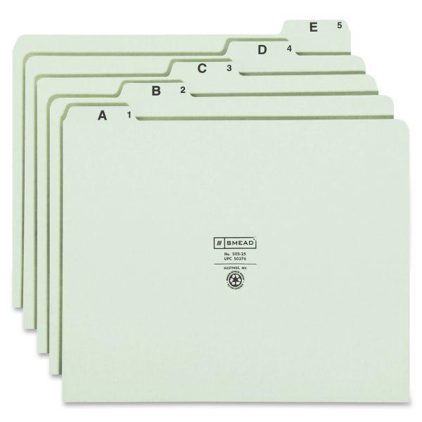 Smead Alphabetic Top Tab Pressboard File Guides