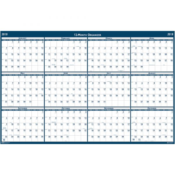House of Doolittle Laminated Yearly Wall Calendar