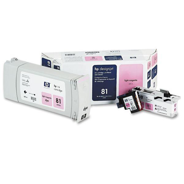 HP 81, (C4995A) Ink Cartridge/Printhead/Printhead Cleaner, 680 mL, Light Magenta