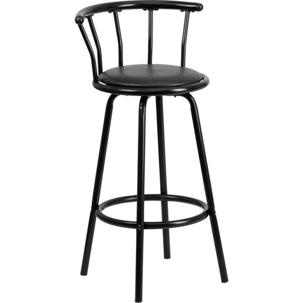 Flash Furniture Crown Back Barstool with Swivel Seat