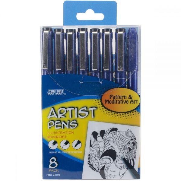 Pro Art Artist Pens 8/Pkg