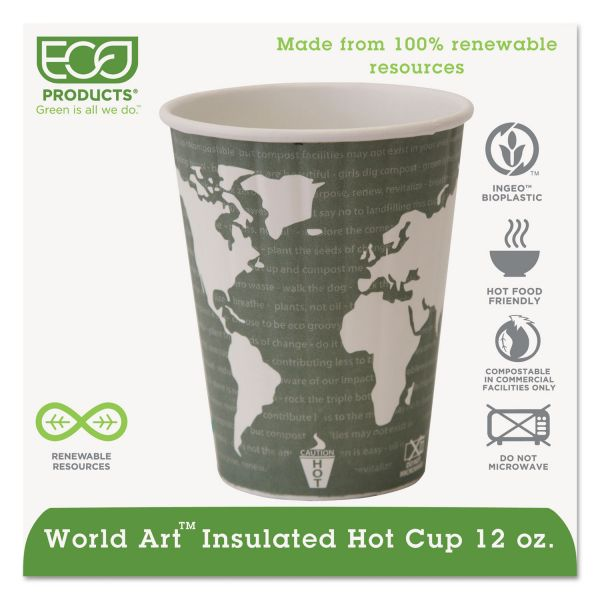 Eco-Products Insulated 12 oz Paper Coffee Cups