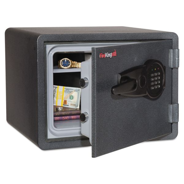 FireKing One Hour Fire and Water Safe with Electronic Lock, 0.85 cu. ft., Graphite