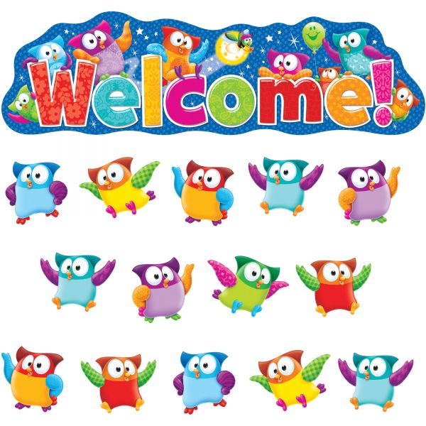 Trend Owl-Stars! Welcome Bulletin Board Set