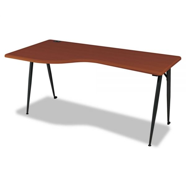 BALT iFlex Series Full Table-Left, 65w x 31d x 29h, Cherry/Black