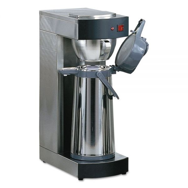 Coffee Pro Air Pot Brewer, Stainless Steel, 75 oz, 8 3/4 x 14 3/4 x 21 1/4