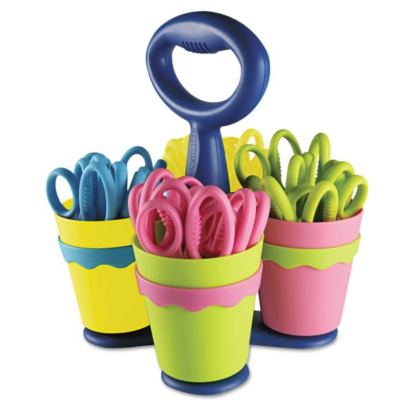 Westcott School Scissor Caddy and Kids Scissors With Microban