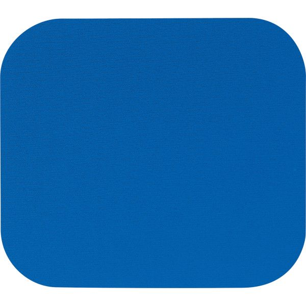 Fellowes Polyester Mouse Pad, Nonskid Rubber Base, 9 x 8, Blue