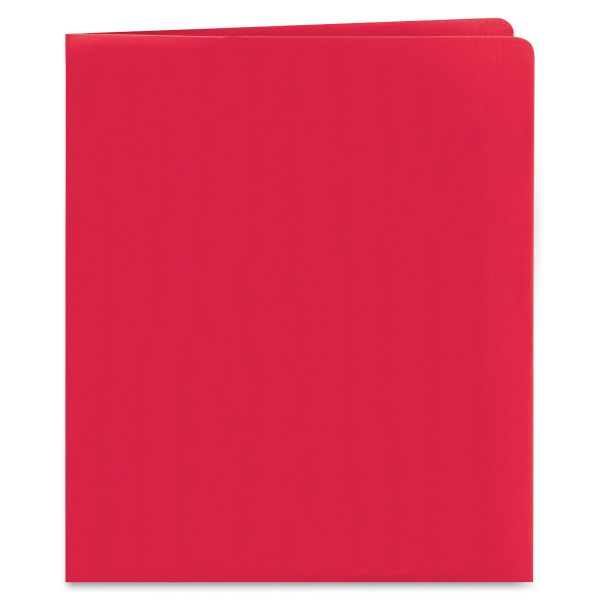 Smead Heavyweight Red Two Pocket Folders
