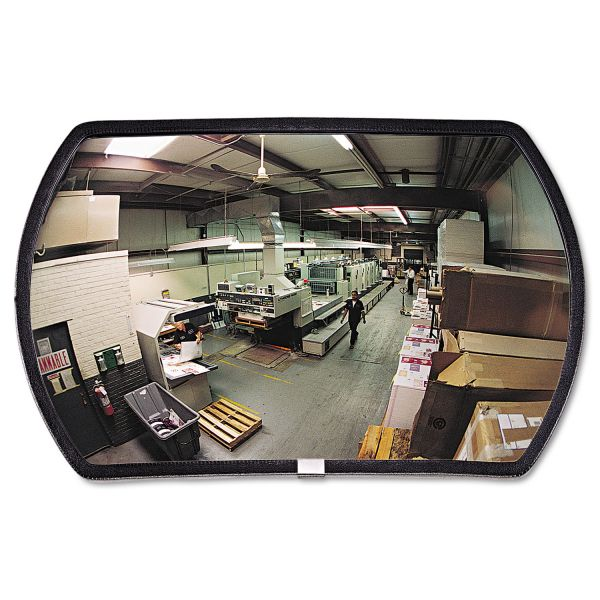 "See All 160 degree Convex Security Mirror, 24w x 15"" h"