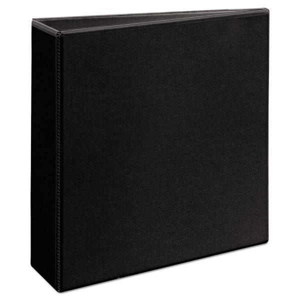"Avery Durable 3-Ring View Binder, 3"" Capacity, Round Ring, Black"