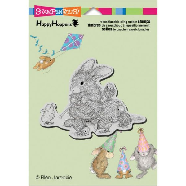 "Stampendous HappyHopper Cling Rubber Stamp 5.5""X4.5"" Sheet"