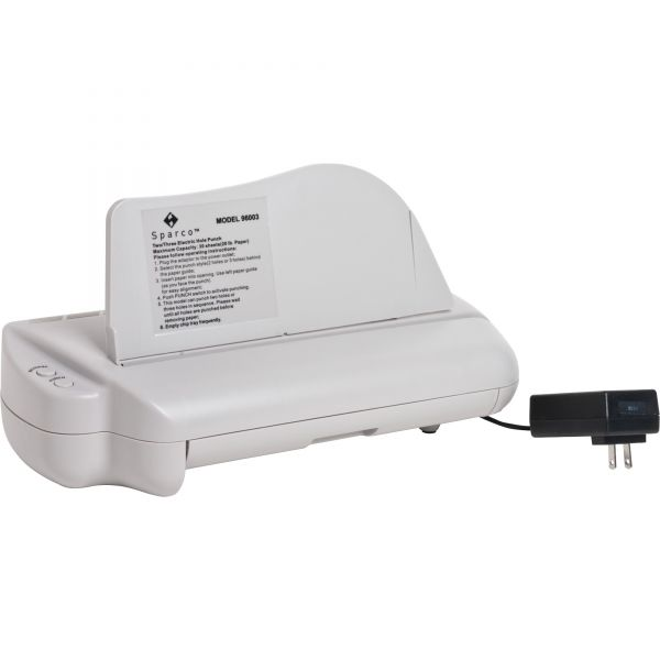 Sparco Electric Three-Hole Punch