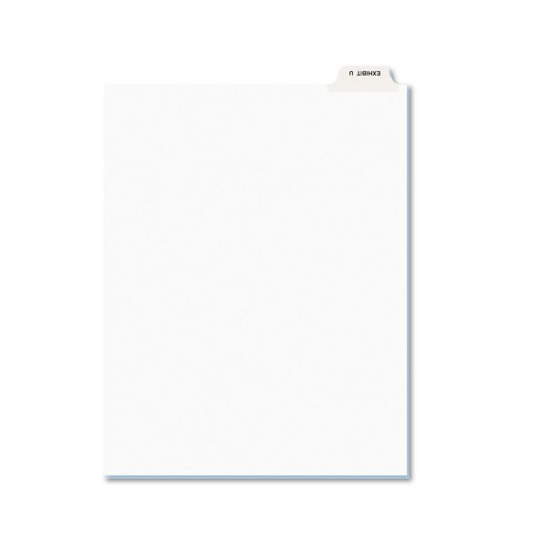Avery-Style Preprinted Legal Bottom Tab Dividers, Exhibit U, Letter, 25/Pack