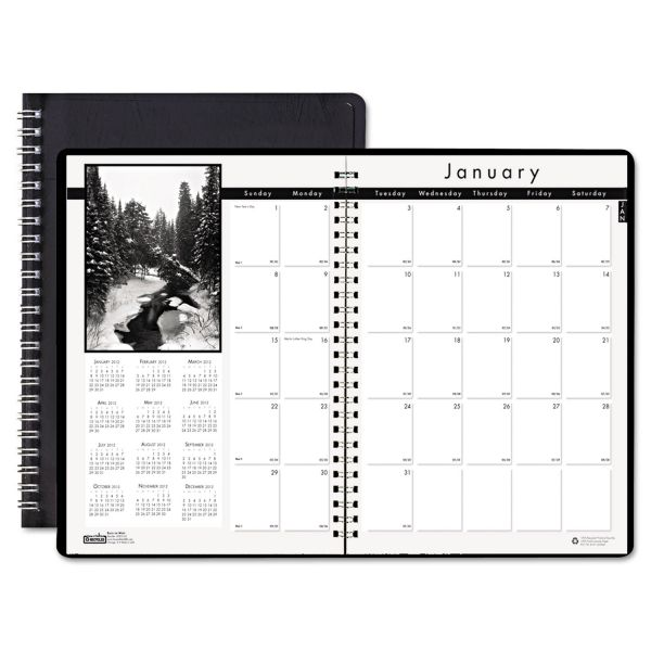 House of Doolittle Black on White Monthly Planner