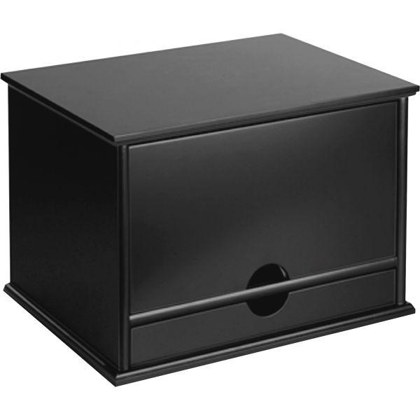 Victor Midnight Black Collection Desktop Organizer, 13 3/10 x 10 1/2 x 9 1/5, Wood