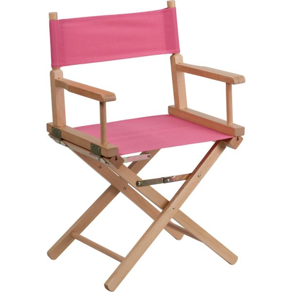 Flash Furniture Standard Height Directors Chair in Pink