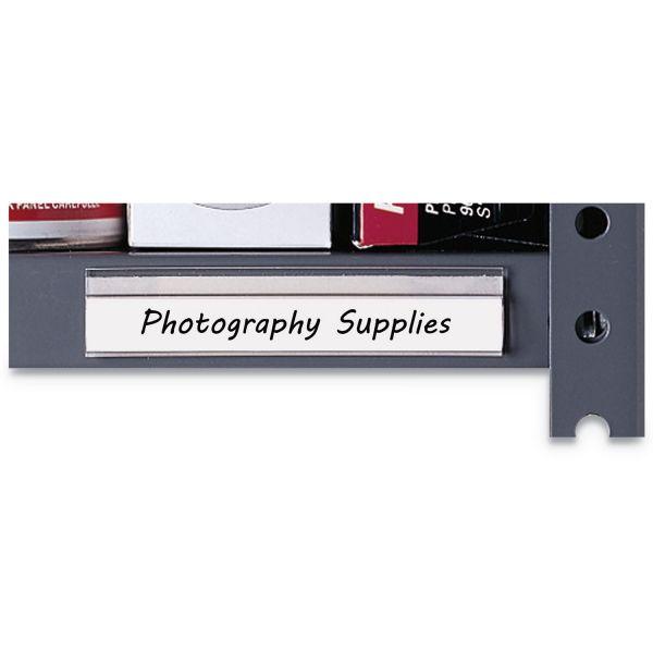 C-Line Shelf Labeling Strips, Side Load, 4 x 7/8, Clear, 10/Box