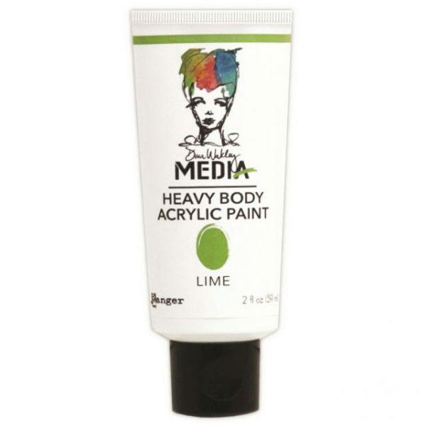 Dina Wakley Media Heavy Body Lime Acrylic Paint