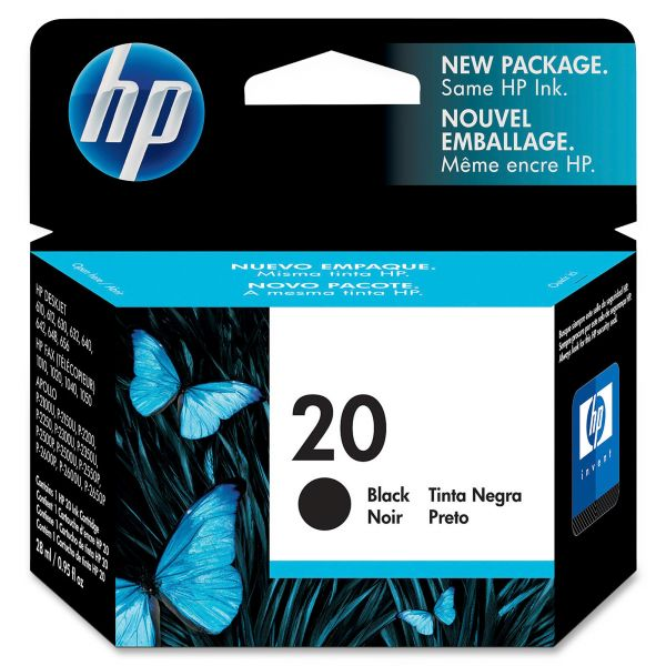 HP 20 Black Ink Cartridge (C6614DN)