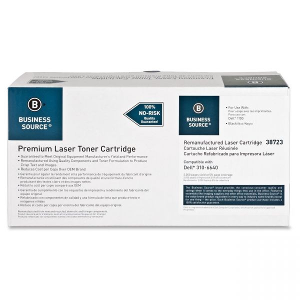 Business Source Remanufactured Dell 310-7660 Black Toner Cartridge
