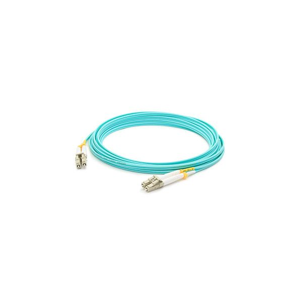 AddOn 15m Laser-Optomized Multi-Mode fiber (LOMM) Duplex LC/LC OM4 Aqua Patch Cable