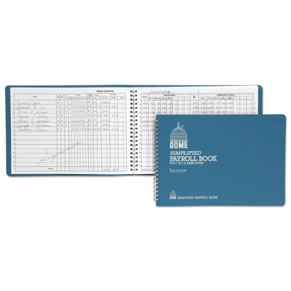 Dome Wirebound Payroll Book